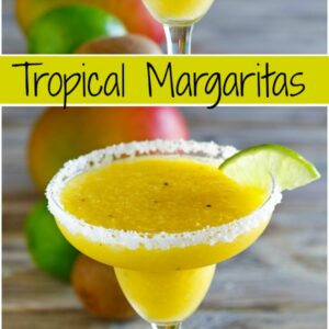 pinterest collage image for tropical margarita