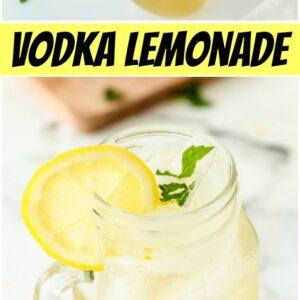 pinterest collage image for vodka lemonade