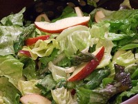 asparagus apple salad with blue cheese vinaigrette