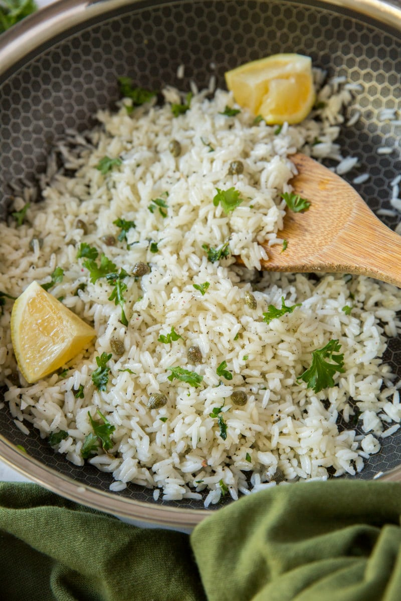 making lemon rice