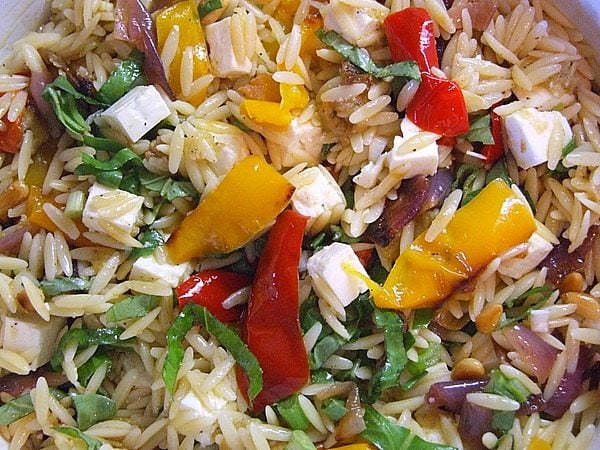 Orzo with roasted vegetables and feta Ina garten summer pasta