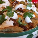 Chorizo Bean and Cheese Nachos