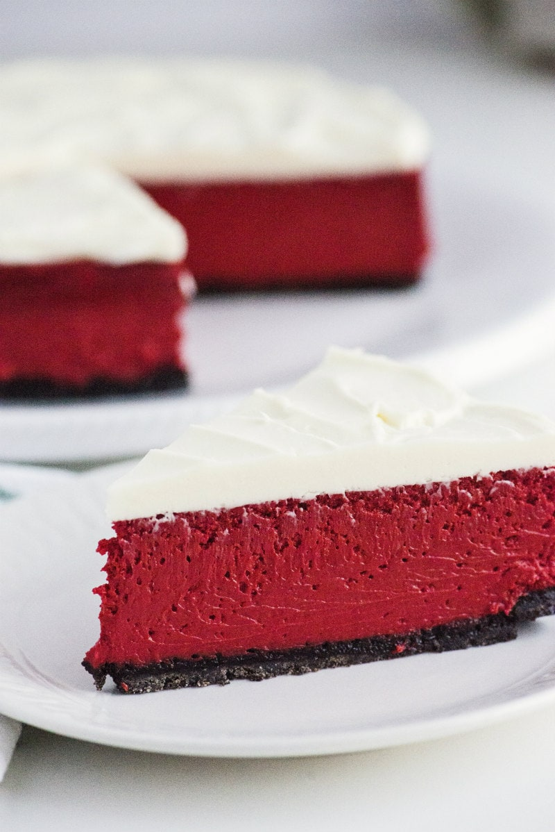 slice of Red Velvet Cheesecake