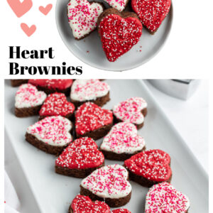 pinterest collage image for chocolate dipped brownies