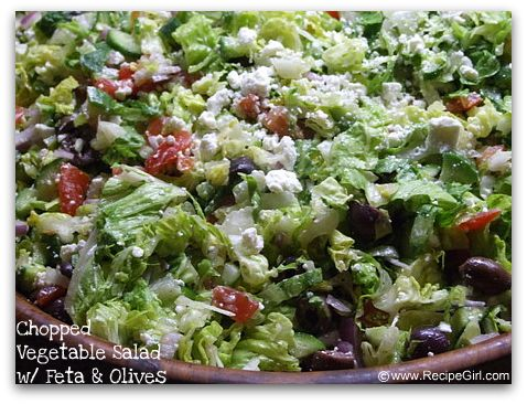 Greek vegetable salad recipes