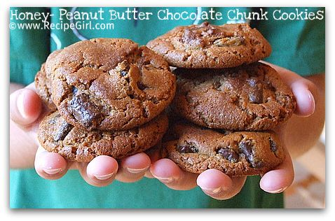 honey-peanut-butter-chocolate-chunk-cookies