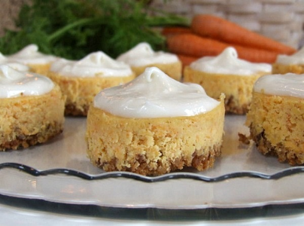 Miniature Carrot Cake Cheesecakes