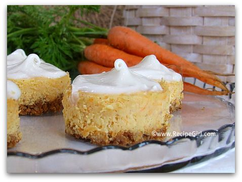 Mini Carrot Cake Cheesecakes with Cream Cheese Icing (& Marzipan ...