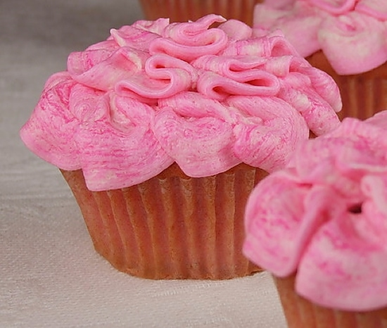 Pink Strawberry Cupcakes