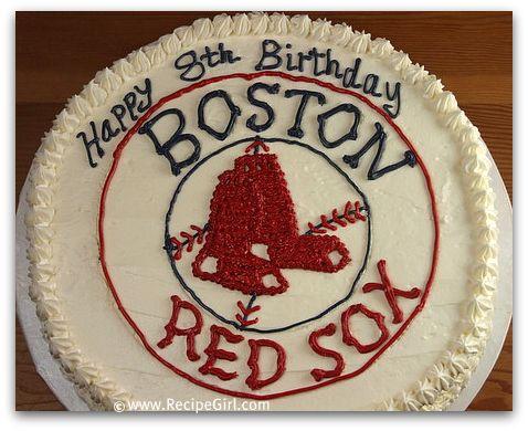 Boston Red Sox Birthday Cake - Recipe Girl®