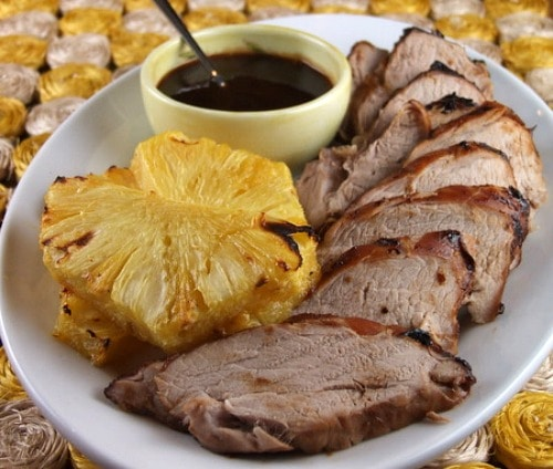Pork roast with pineapple recipe