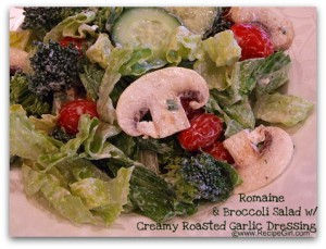 romaine-and-broccoli-salad-with-creamy-roasted-garlic-dressing