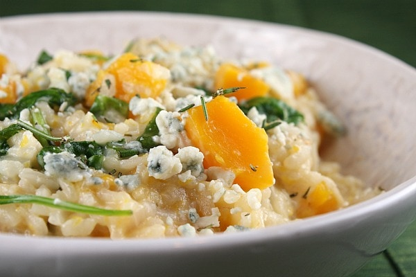 Butternut Squash Risotto with Rosemary and Blue Cheese
