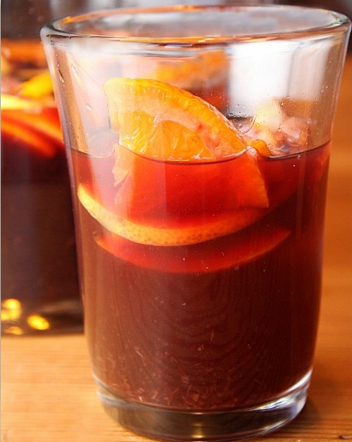 Classic Sangria for a Portuguese Dinner Party Menu
