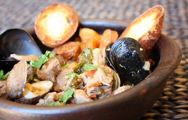 Pork Stew with Clams for a Portuguese Dinner Party Menu