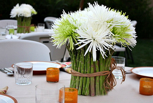 Table centerpiece for Labor Day Gourmet Grilling Party
