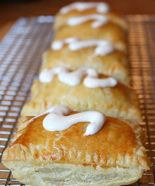 Peanut Butter S'Mores Turnovers with marshmallow