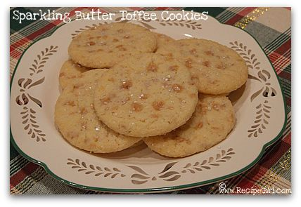 Sparkling Butter Toffee Cookies