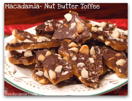 macadamia nut butter toffee