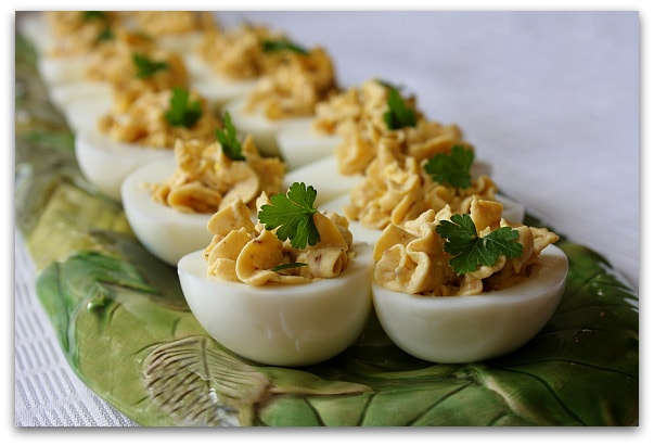 ... were a delicious change from the usual, simplistic deviled egg recipe