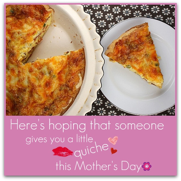 Mother's Day Quiche Recipes: Swiss & Cheddar Quiche with Bacon