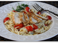 Sauteed Chicken with Orzo