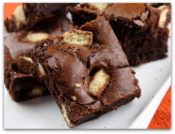 Candy Bars Make Everything Taste Better: Twix Bar Brownies