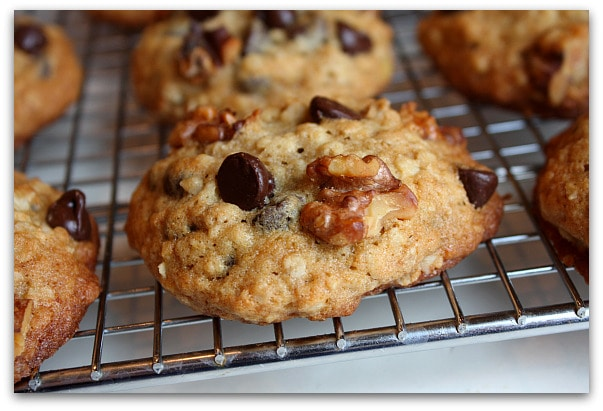 Banana Walnut Chocolate Chip Cookies 1