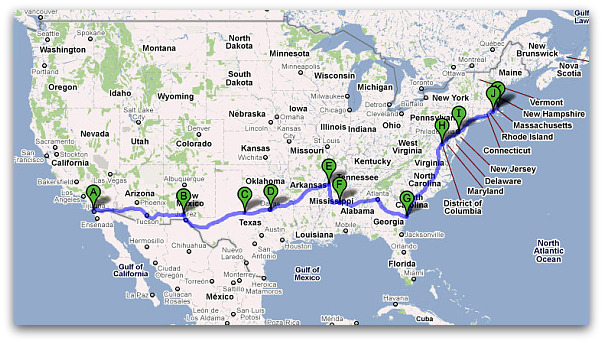 Cross Country Road Trip With Food Highlights West To East