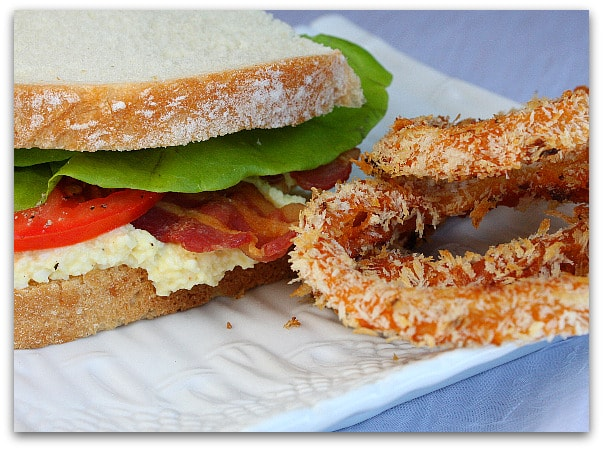 ... onion rings into… the bbq sauce provides plenty of flavor, with the