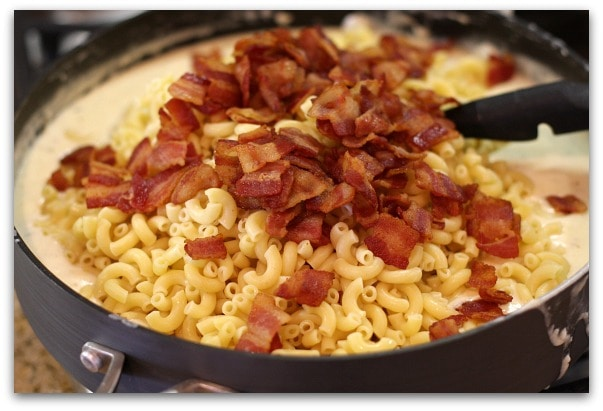 Bacon And Cheddar Macaroni & Cheese Recipe — Dishmaps