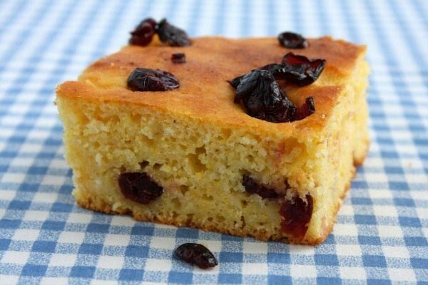 Cranberry Cornbread Recipe - from RecipeGirl.com