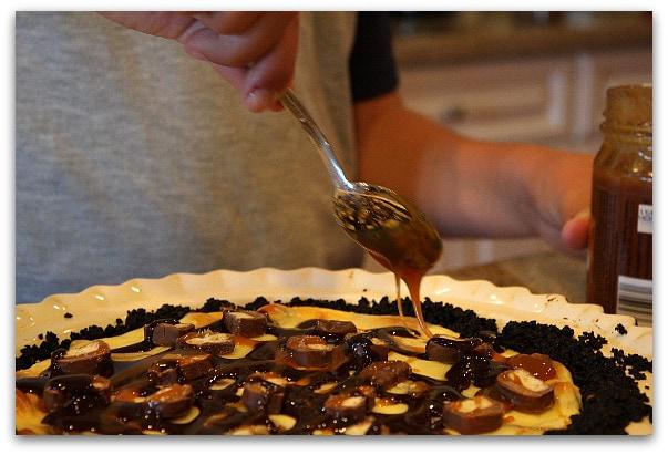 Prize winning pie recipe - Twix Cheesecake Pie