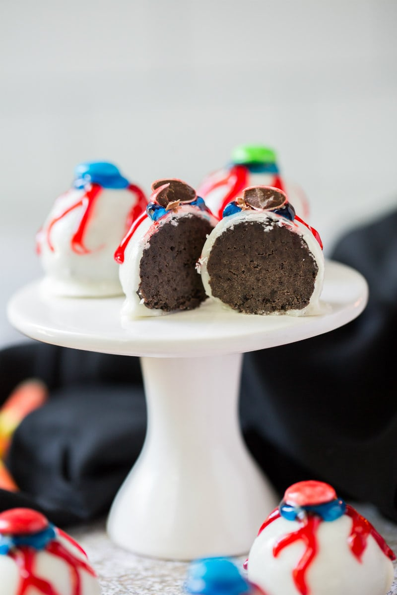 Inside Oreo Eyeball Truffles