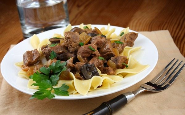 Slow Cooker Beef Stroganoff recipe from RecipeGirl.com
