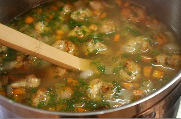 pot of Italian Wedding Soup