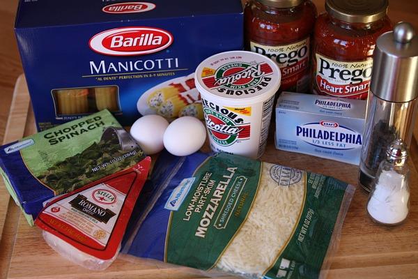 Easy spinach and cheese manicotti recipe