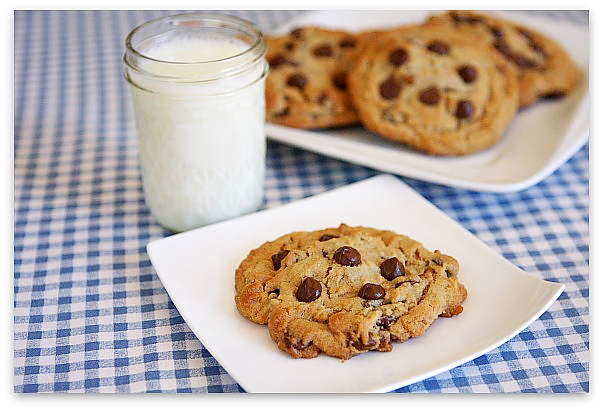 Reeses Stuffed Peanut Butter- Chocolate Chip Cookies
