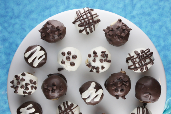 ... love, love these little treats: Chocolate Chip Cookie Dough Truffles