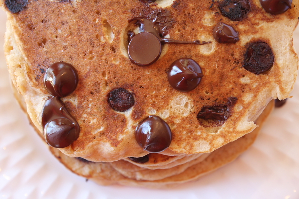 Whole Wheat- Chocolate Chip Pancakes