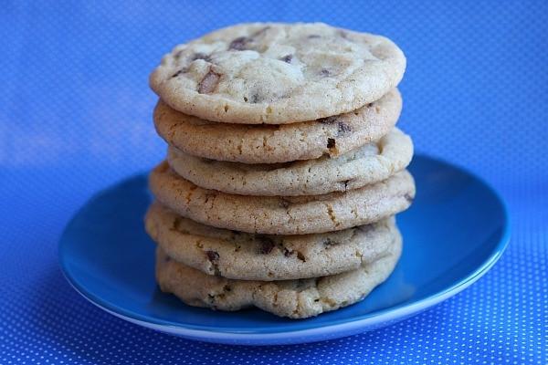 Toffee Chip Snickerdoodles - cookie recipe from RecipeGirl.com