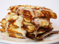 Cinnamon Roll Waffles 4
