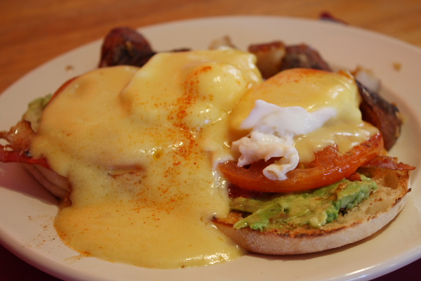 At Colby's: Avocado, Tomato and Bacon Benedict (I couldn't eat it ...