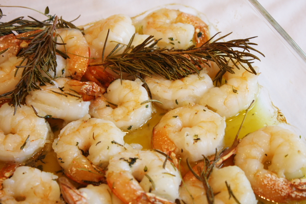 Roasted Shrimp With Rosemary, Garlic & Lemon Recipe — Dishmaps