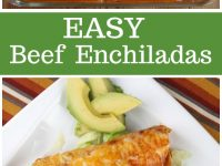 pinterest collage image for easy beef enchiladas