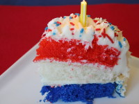 Red White and Blue Birthday Cake 2