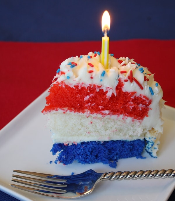 Red White And Blue Cake Recipe