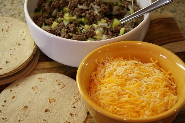 Ingredients for Easy Beef Enchiladas