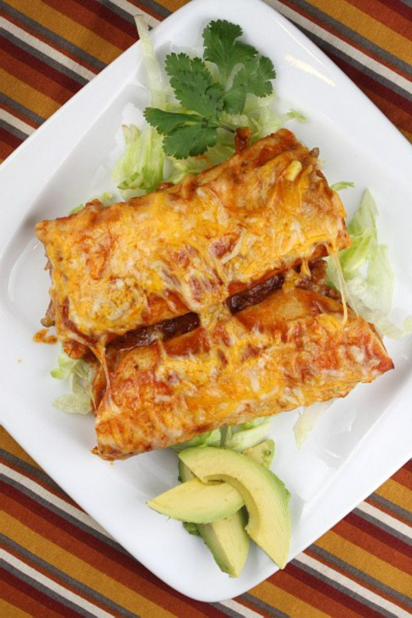 Two Easy Beef Enchiladas