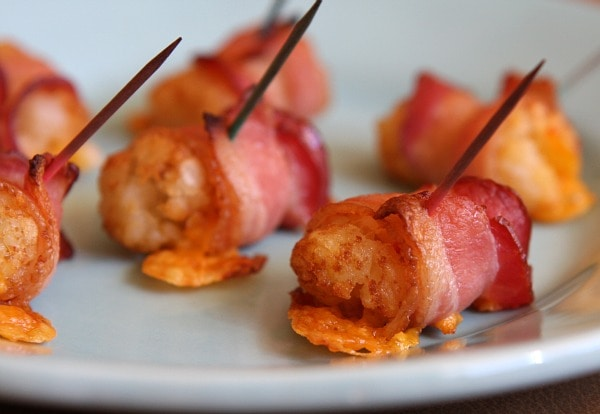 Bacon- Wrapped Tater Tots from RecipeGirl. These were a big hit when I ...
